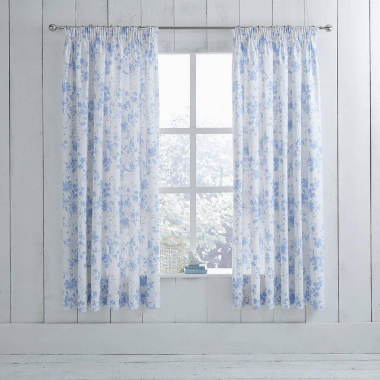 Amelie Blue Curtain