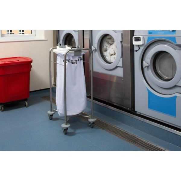 1 bag stainless steel laundry cart