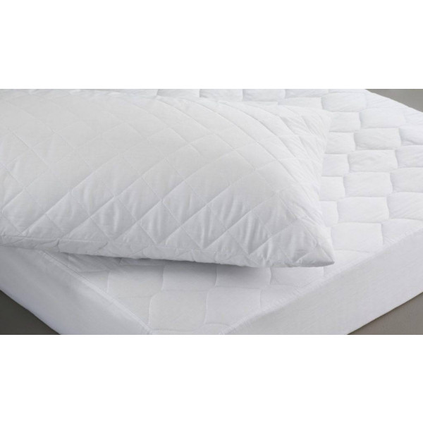 Quilted polycotton matt prot pillow prot scaled